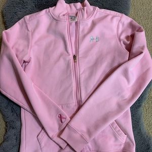 Under Armour Pink Breast Cancer zip up jacket S